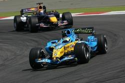 Giancarlo Fisichella leads Christian Klien