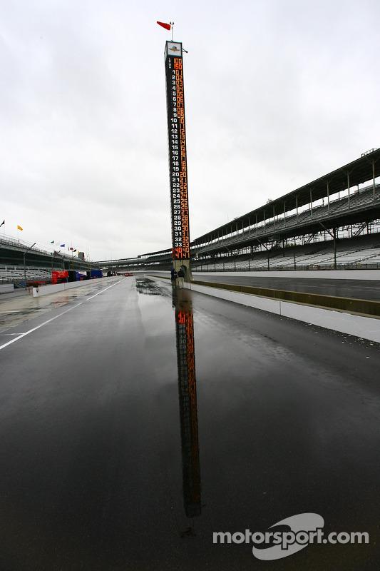 Jour de pluie à Indy