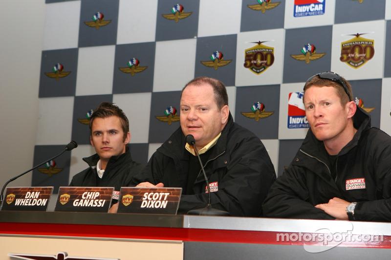 Dan Wheldon, Chip Ganassi et Scott Dixon