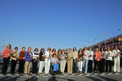 The moms of NASCAR NEXTEL Cup Series drivers pose for a photo at Darlington Raceway prior to the Dodge Charger 500