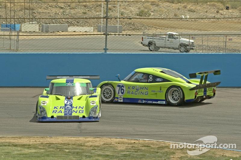 Tête-à-queu de #75 Krohn Racing Ford Riley: Tracy Krohn, Nic Jonsson