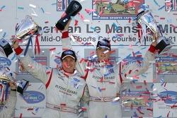 LMGT2 podium: class winner Johannes van Overbeek and Wolf Henzler