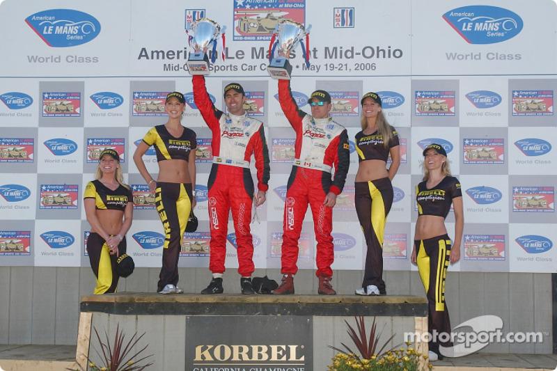 Podium LMGT2: deuxième place, Scott Maxwell et David Brabham