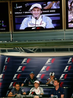 FIA press conference: Rubens Barrichello, David Coulthard, Juan Pablo Montoya, Jarno Trulli and Alexander Wurz