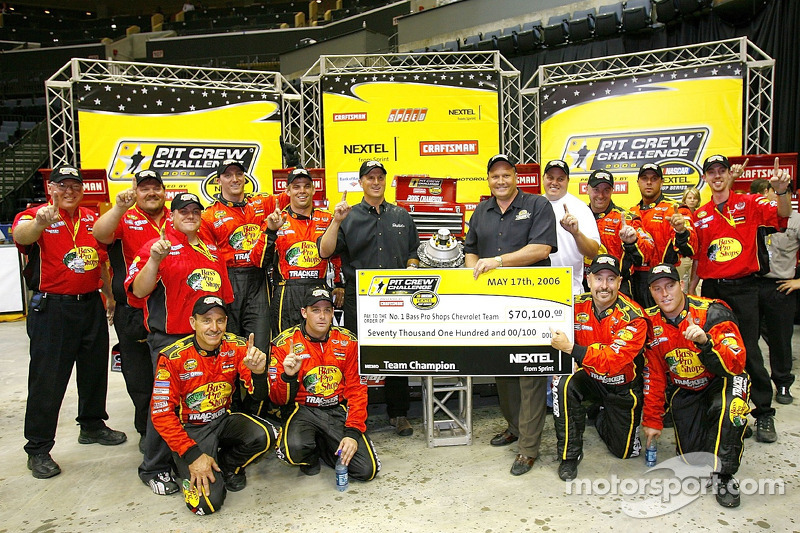 The Pit Crew Of The 1 Bass Pro Shops Chevrolet Driven By