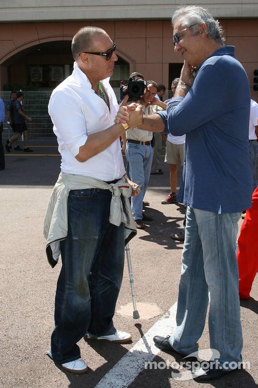 Michel Comte, le photographe parle avec Flavio Briatore
