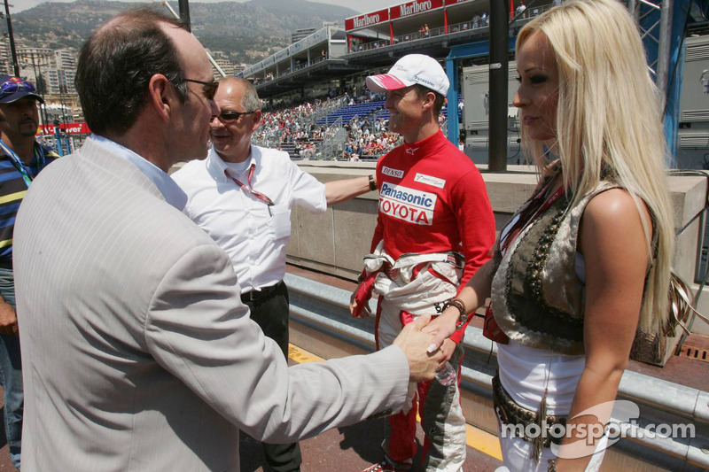 Ralf Schumacher, Cora Schumacher y Kevin Spacey