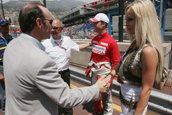 Ralf Schumacher, Cora Schumacher and Kevin Spacey