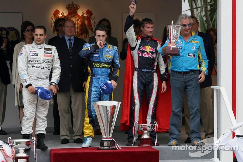 2006: 1. Fernando Alonso, 2. Juan Pablo Montoya, 3. David Coulthard