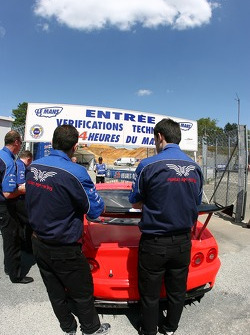 Russian Age Racing Ferrari 550 Maranello enters scrutineering