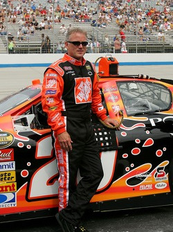 Ricky Rudd poses with the #20 Home Depot Chevy