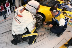 Corvette Racing team members at work