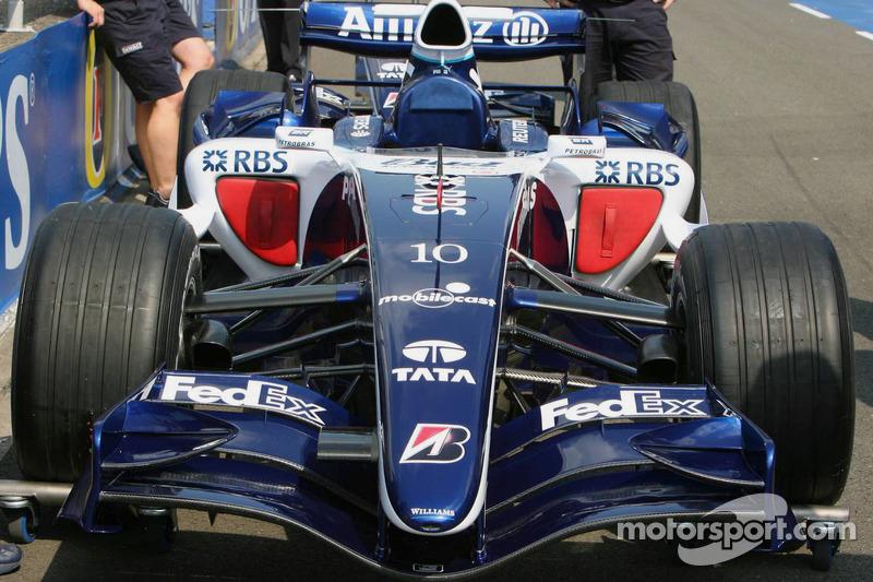 Gros plan de la Williams FW28