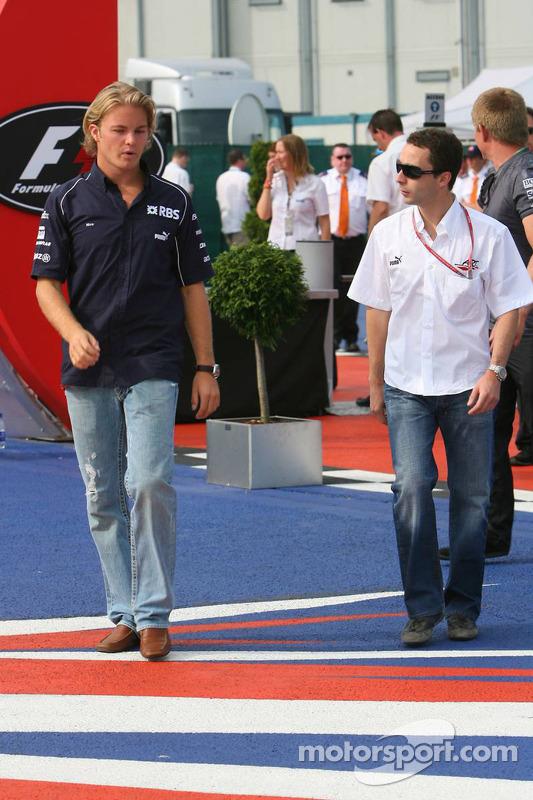 Nico Rosberg et Nicolas Todt