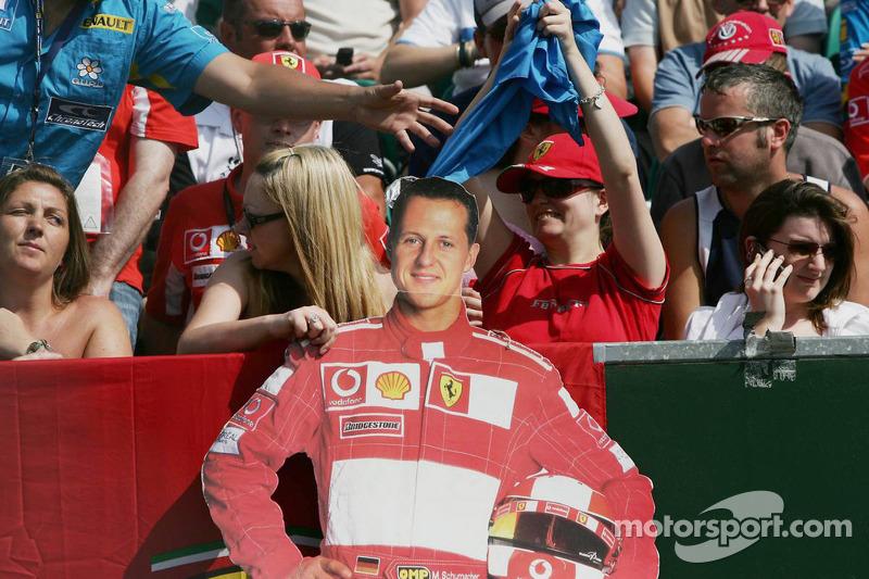 Des fans de Michael Schumacher
