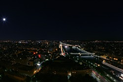 Paris by night: overlooking the Seine