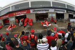 Fans check out Ferrari garage