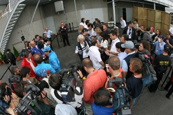 TV interviews after the FIA press conference