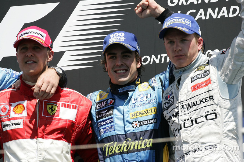 2006: 1. Фернандо Алонсо; 2. Михаэль Шумахер; 3. Кими Райкконен