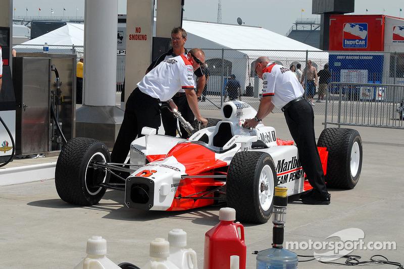 Ravitaillement final pour la Dallara de Sam Hornish Jr.