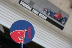 Scuderia Toro Rosso lollipop and team garage