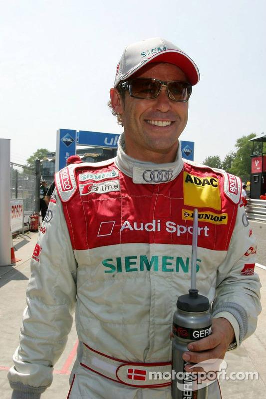 Le vainqueur de la pole position Tom Kristensen