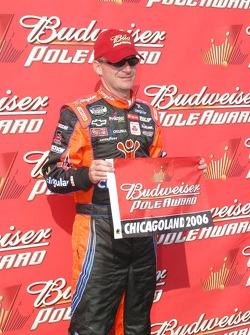 Jeff Burton wins the pole at Chicagoland
