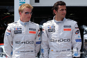 Kimi Raikkonen and Pedro de la Rosa in 2006