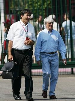 Pasquale Lattuneddu with Bernie Ecclestone