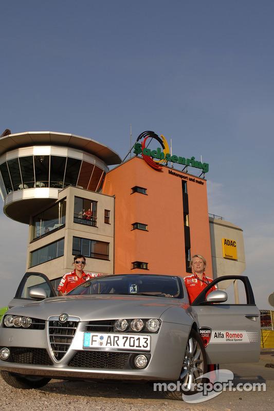 L'Alfa Romeo de l'équipe Ducati