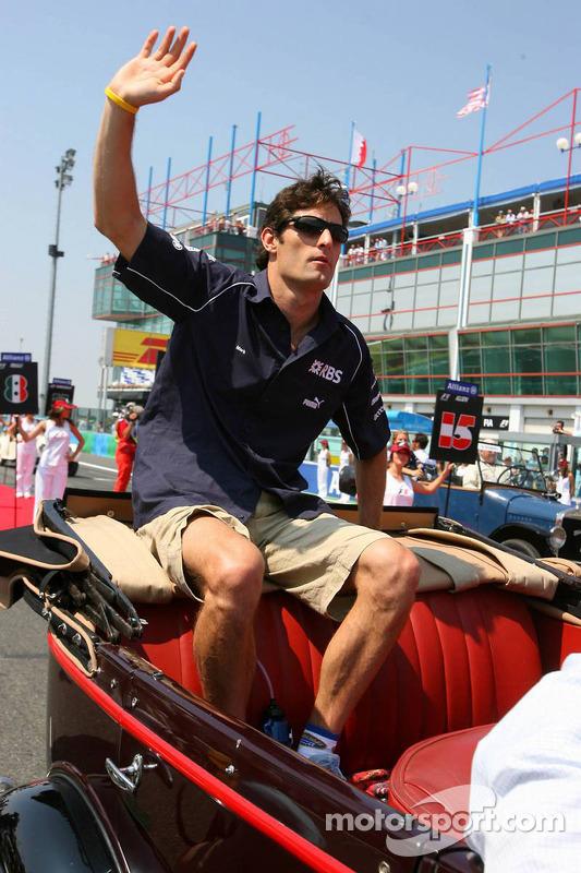 Parade des pilotes : Mark Webber
