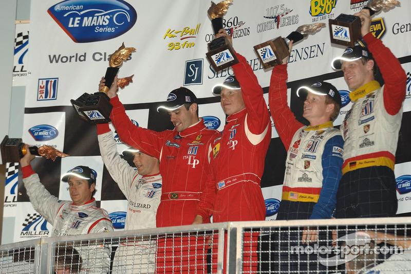 Célébration du podium LMGT2