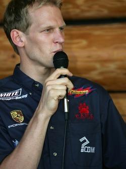 ALMS drivers fan event in Portland: Jorg Bergmeister