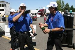 Pit crew challenge: Alex Job Racing crew members celebrate victory