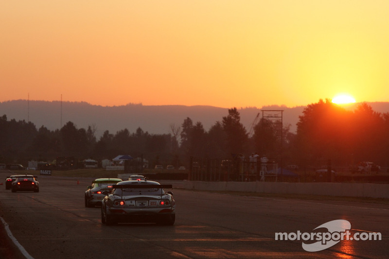 Coucher de soleil au Portland International Raceway