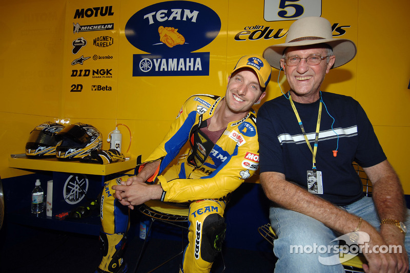 Colin Edwards con su padre