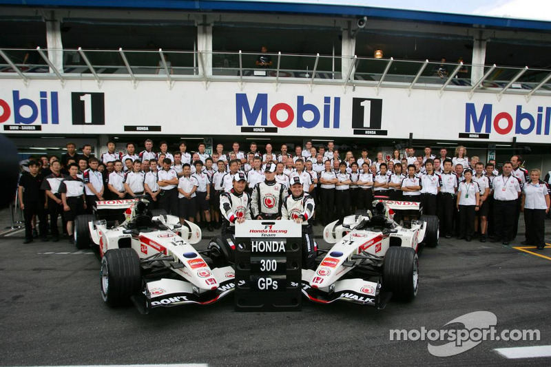 Photo de l'équipe Honda Racing: Honda fête son 300e Grand Prix