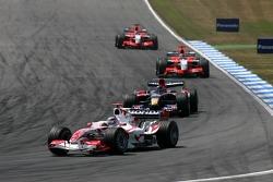 Takuma Sato leads Scott Speed, Tiago Monteiro and Christijan Albers