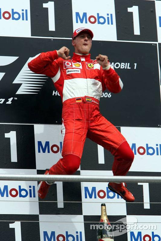 Michael Schumacher auf dem Podium