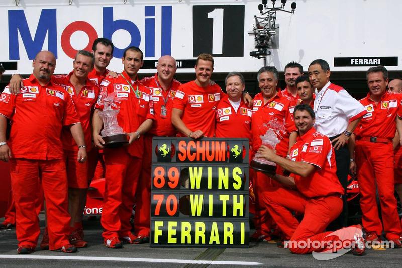 Michael Schumacher und das Ferrari-Team