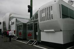 Super Aguri F1 Team transporters