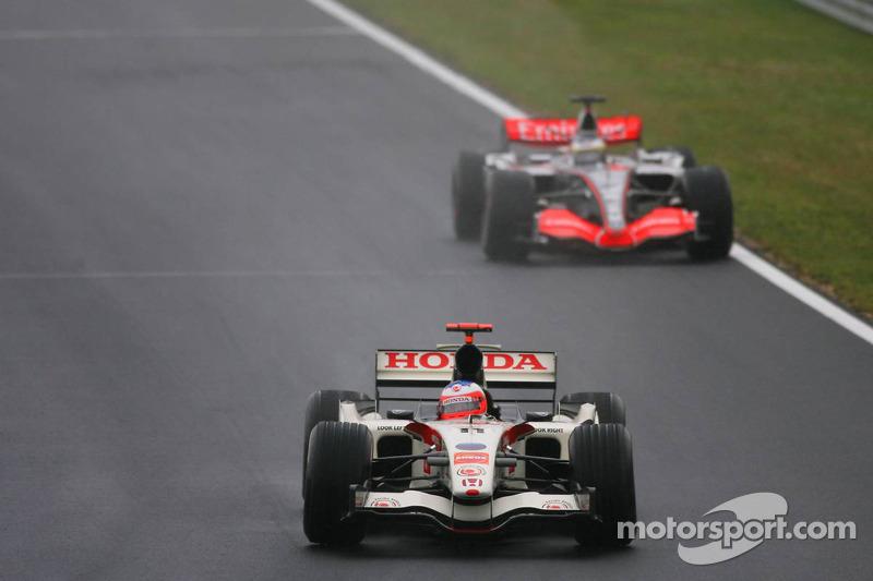 Rubens Barrichello y Pedro de la Rosa