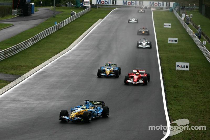 Giancarlo Fisichella en el inicio de la carrera