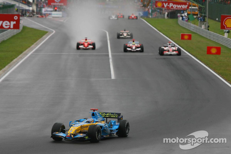 Fernando Alonso, Takuma Sato y Ralf Schumacher