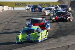 Pace laps: #76 Krohn Racing Ford Riley: Jorg Bergmeister, Colin Braun