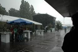 The event was visited by heavy rain fall several times
