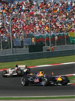 Christian Klien leads Jenson Button