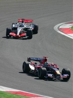 Vitantonio Liuzzi and Kimi Raikkonen