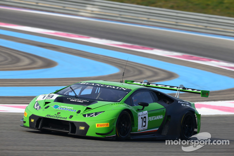 #19 GRT Grasser Racing Team, Lamborghini Huracan: Mirco Bortolotti, Adrian Zaugg
