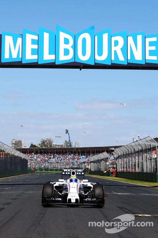 Felipe Massa, Williams FW37, in der Startaufstellung
